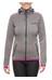 axant Anden Fleece Jacket Women stone grey/fuchsia red